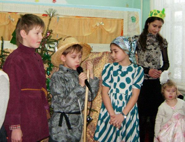 праздник   Рождества в воскресной школе