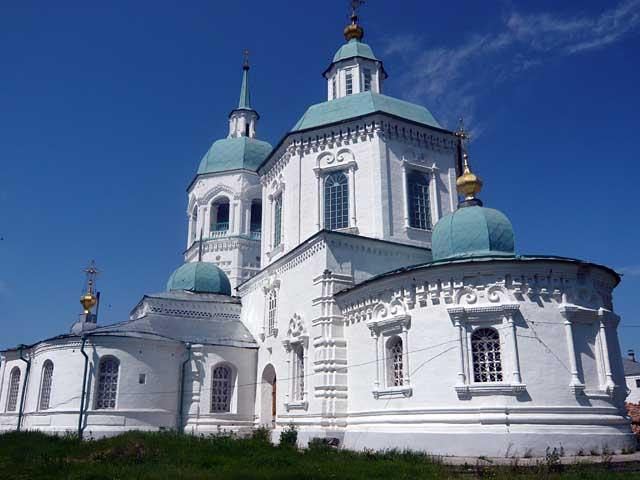 Спасо-Преображенский собор Енисейского мужского   монастыря после реставрации в 2010 г.