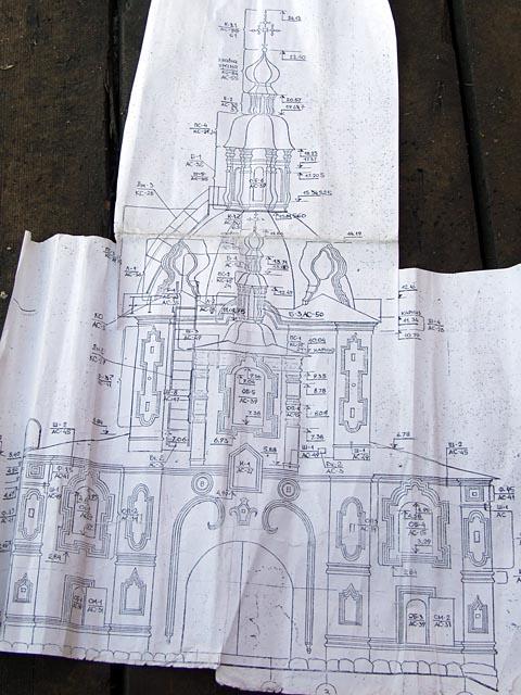 чертеж церкви Захарии и Елизаветы